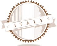 Italy Themed Graphic Collection - Outline Italian Badge