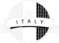Italy Themed Graphic Collection - Italy Black and White Vector Logo