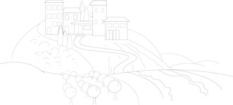 Italy Themed Graphic Collection - Italy Background in Modern Outline Style