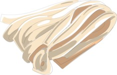 Italy Themed Graphic Collection - Tagliatelle Pasta Vector Graphic