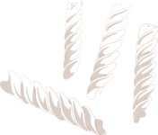 Italy Themed Graphic Collection - Fusilli Vector Hand Drawn