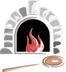 Italy Themed Graphic Collection - Pizza Oven Vector