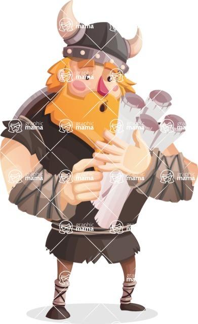 Big Male Viking Cartoon Vector Character AKA Torhild the Brave - Plans