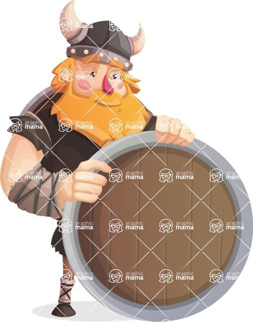 Big Male Viking Cartoon Vector Character AKA Torhild the Brave - Presentation 3
