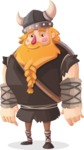 Big Male Viking Cartoon Vector Character AKA Torhild the Brave - Normal