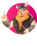 Big Male Viking Cartoon Vector Character AKA Torhild the Brave - Shape 1