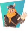 Big Male Viking Cartoon Vector Character AKA Torhild the Brave - Shape 2