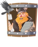 Big Male Viking Cartoon Vector Character AKA Torhild the Brave - Shape 3