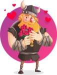 Big Male Viking Cartoon Vector Character AKA Torhild the Brave - Shape 5
