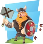 Big Male Viking Cartoon Vector Character AKA Torhild the Brave - Shape 6