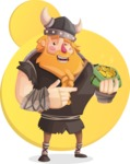 Big Male Viking Cartoon Vector Character AKA Torhild the Brave - Shape 7
