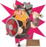 Big Male Viking Cartoon Vector Character AKA Torhild the Brave - Shape 8
