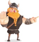 Big Male Viking Cartoon Vector Character AKA Torhild the Brave - Direct Attention