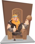 Big Male Viking Cartoon Vector Character AKA Torhild the Brave - Shape 10