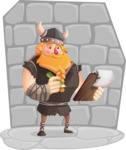 Big Male Viking Cartoon Vector Character AKA Torhild the Brave - Shape 11