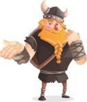 Big Male Viking Cartoon Vector Character AKA Torhild the Brave - Sorry