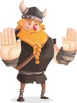 Big Male Viking Cartoon Vector Character AKA Torhild the Brave - Stop