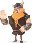 Big Male Viking Cartoon Vector Character AKA Torhild the Brave - Stop 2