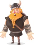 Big Male Viking Cartoon Vector Character AKA Torhild the Brave - Stunned