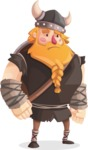 Big Male Viking Cartoon Vector Character AKA Torhild the Brave - Sad 2