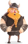 Big Male Viking Cartoon Vector Character AKA Torhild the Brave - Roll Eyes