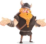 Big Male Viking Cartoon Vector Character AKA Torhild the Brave - Lost
