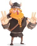 Big Male Viking Cartoon Vector Character AKA Torhild the Brave - Diva
