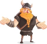 Big Male Viking Cartoon Vector Character AKA Torhild the Brave - Confused