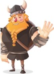 Big Male Viking Cartoon Vector Character AKA Torhild the Brave - Goodbye