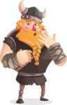 Big Male Viking Cartoon Vector Character AKA Torhild the Brave - Oops