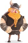 Big Male Viking Cartoon Vector Character AKA Torhild the Brave - Patient