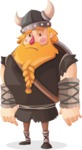 Big Male Viking Cartoon Vector Character AKA Torhild the Brave - Blank