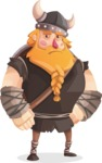 Big Male Viking Cartoon Vector Character AKA Torhild the Brave - Bored