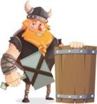 Viking Torhild the Brave - Shield and hammer 2