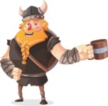 Big Male Viking Cartoon Vector Character AKA Torhild the Brave - Toast