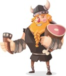 Big Male Viking Cartoon Vector Character AKA Torhild the Brave - Toast 2