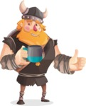 Big Male Viking Cartoon Vector Character AKA Torhild the Brave - Teabreak