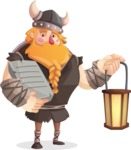 Big Male Viking Cartoon Vector Character AKA Torhild the Brave - Book 2