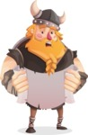 Big Male Viking Cartoon Vector Character AKA Torhild the Brave - Book 3