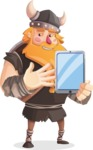 Big Male Viking Cartoon Vector Character AKA Torhild the Brave - Tablet