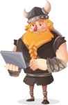 Big Male Viking Cartoon Vector Character AKA Torhild the Brave - Laptop 2