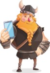 Big Male Viking Cartoon Vector Character AKA Torhild the Brave - Smartphone