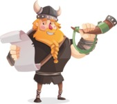 Big Male Viking Cartoon Vector Character AKA Torhild the Brave - Announcement