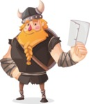 Big Male Viking Cartoon Vector Character AKA Torhild the Brave - Letter 1