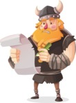 Big Male Viking Cartoon Vector Character AKA Torhild the Brave - Letter 2