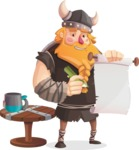 Big Male Viking Cartoon Vector Character AKA Torhild the Brave - Letter 3