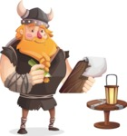 Big Male Viking Cartoon Vector Character AKA Torhild the Brave - Clipboard