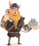 Big Male Viking Cartoon Vector Character AKA Torhild the Brave - Support 1