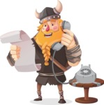 Big Male Viking Cartoon Vector Character AKA Torhild the Brave - Support 2