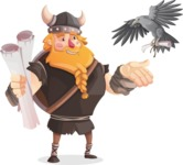 Big Male Viking Cartoon Vector Character AKA Torhild the Brave - Letter 4